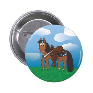 Cavalo ocidental dos desenhos animados bonitos pins