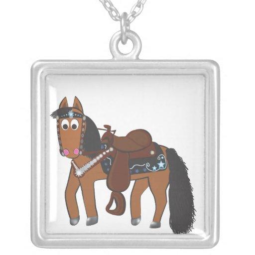 Cavalo ocidental dos desenhos animados bonitos pingentes