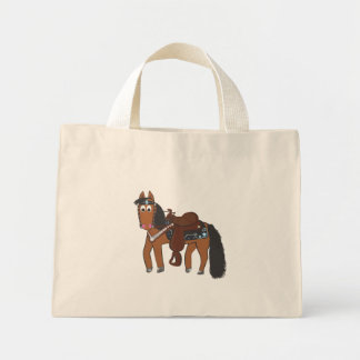 Cavalo ocidental dos desenhos animados bonitos sacola tote mini