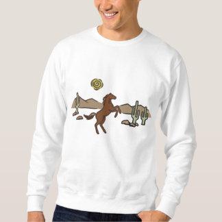 Cavalo ocidental suéter bordado