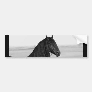 Cavalo orgulhoso do garanhão do preto do frisão adesivo para carro