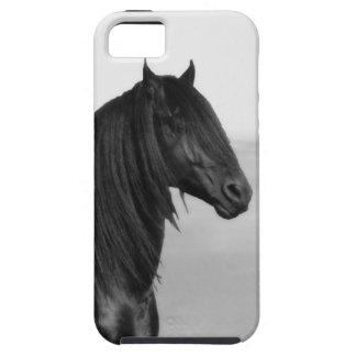Cavalo orgulhoso do garanhão do preto do frisão capa tough para iPhone 5