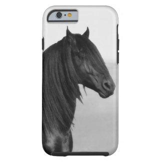 Cavalo orgulhoso do garanhão do preto do frisão capa tough para iPhone 6