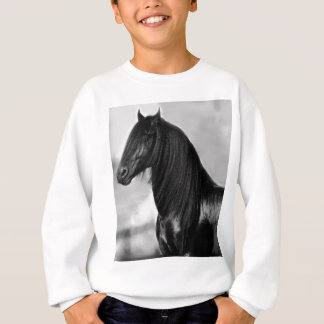 Cavalo orgulhoso do garanhão do preto do frisão t-shirts