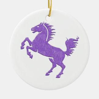 Cavalo Ornamento De Cerâmica Redondo