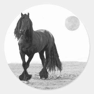 Cavalo perfeito adesivos redondos