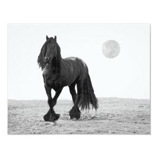 Cavalo perfeito convite 10.79 x 13.97cm