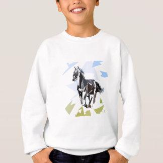 Cavalo preto agasalho