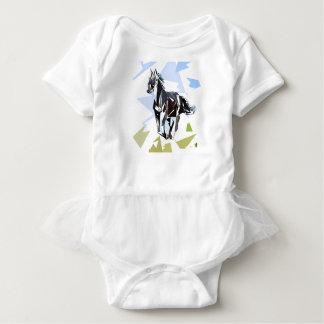 Cavalo preto body para bebê