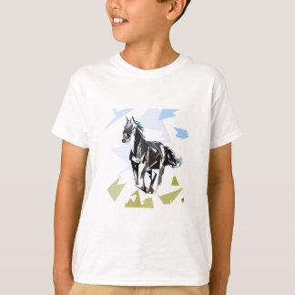 Cavalo preto camiseta