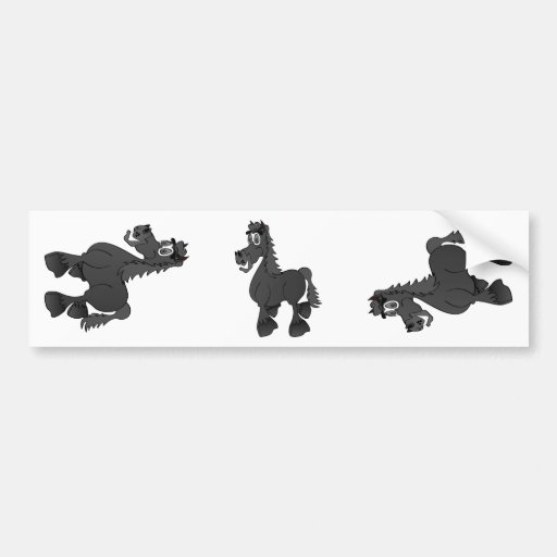 Cavalo preto dos desenhos animados adesivos