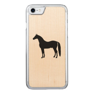 Cavalo preto elegante capa iPhone 8/ 7 carved