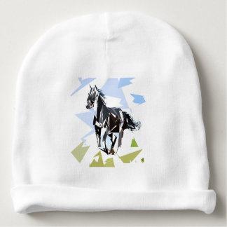 Cavalo preto gorro para bebê