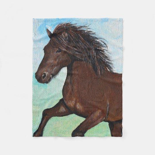 Cavalo que funciona livre cobertor de velo
