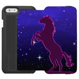 Cavalo roxo na frente das estrelas