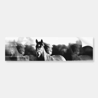 Cavalo Running de B&W Adesivo De Para-choque