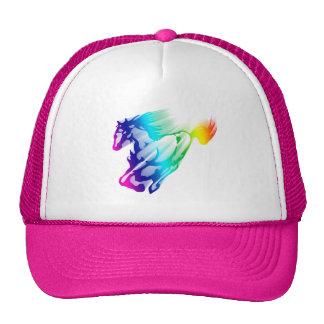 Cavalo Running do arco-íris com fuga do movimento Boné