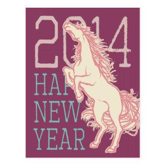 Cavalo selvagem (cartão) do ano novo (cargo de Jap Cartoes Postais