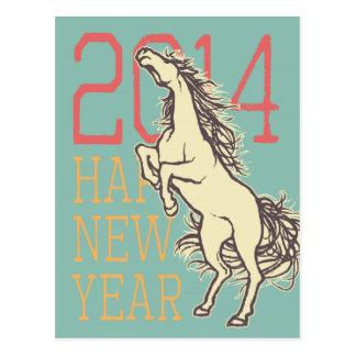 Cavalo selvagem (cartão do ano novo) cartoes postais