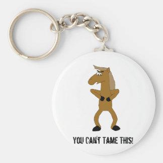 Cavalo selvagem dos desenhos animados de Brown Chaveiro