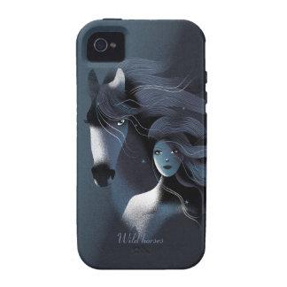 Cavalo selvagem e uma menina bonita capinhas para iPhone 4/4S