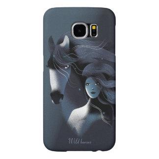 Cavalo selvagem e uma menina bonita capas samsung galaxy s6