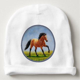 Cavalo selvagem Running do Buckskin Gorro Para Bebê