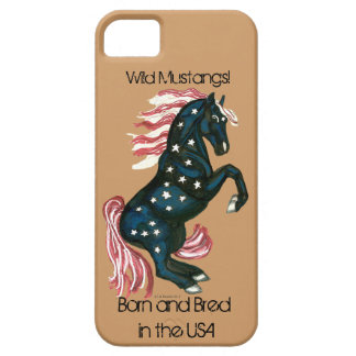 Cavalo selvagem star spangled do mustang - capas capa barely there para iPhone 5