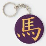 Cavalo - símbolo japonês do Kanji Chaveiro