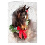Cavalo sonhador do Natal Cartões