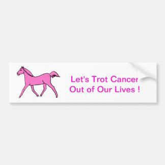 Cavalo trotando cor-de-rosa adesivo para carro
