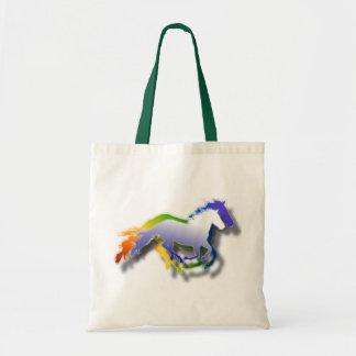 cavalos 3D Running Bolsa De Lona
