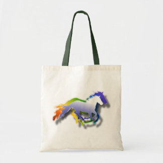 cavalos 3D Running Sacola Tote Budget