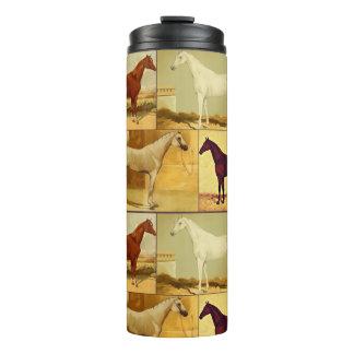 Cavalos árabes do vintage - colagem