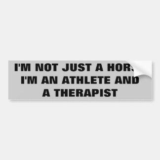Cavalos: Atleta e terapeuta - reboque do cavalo Adesivo Para Carro