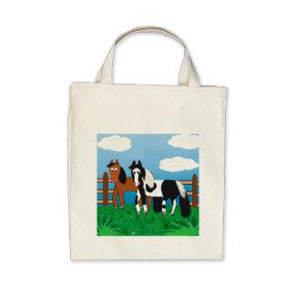 Cavalos bonitos dos desenhos animados bolsa para compra
