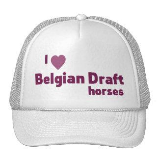 Cavalos de esboço belgas boné