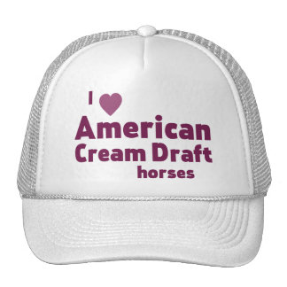 Cavalos de esboço de creme americanos boné