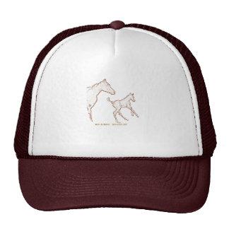 Cavalos de galope boné