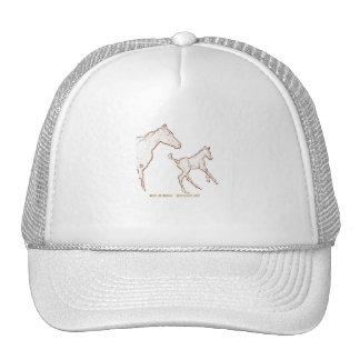 Cavalos de galope: Égua e potro Boné
