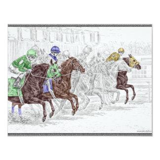 Cavalos de raça da mostra do lugar da vitória convite 10.79 x 13.97cm