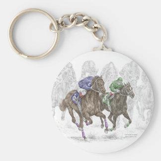 Cavalos de raça de galope chaveiros