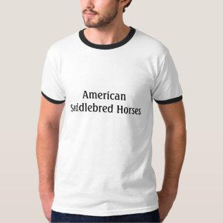 Cavalos de Saddlebred do americano Camisetas