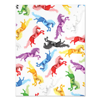 Cavalos de salto coloridos do teste padrão