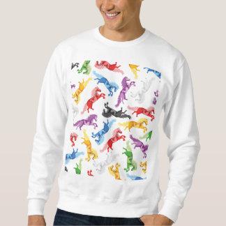 Cavalos de salto coloridos do teste padrão moletom