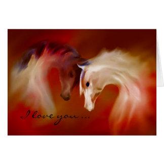 """""""Cavalos de vidro, cartão do ~ do amor dos"""