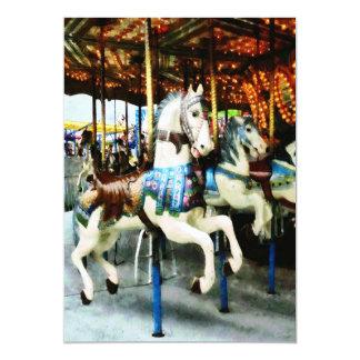 Cavalos do carrossel convite
