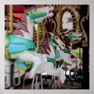 Cavalos do carrossel pôster