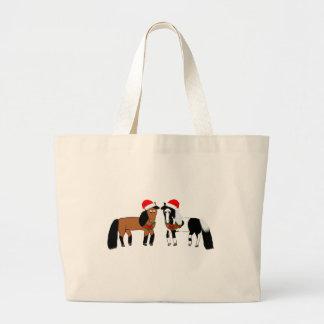 Cavalos do Natal Bolsa Tote Grande