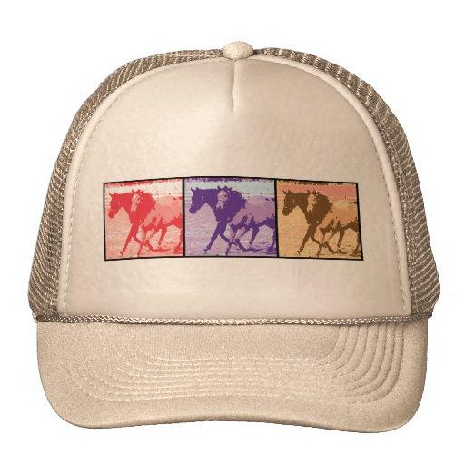 Cavalos do pop art bonés